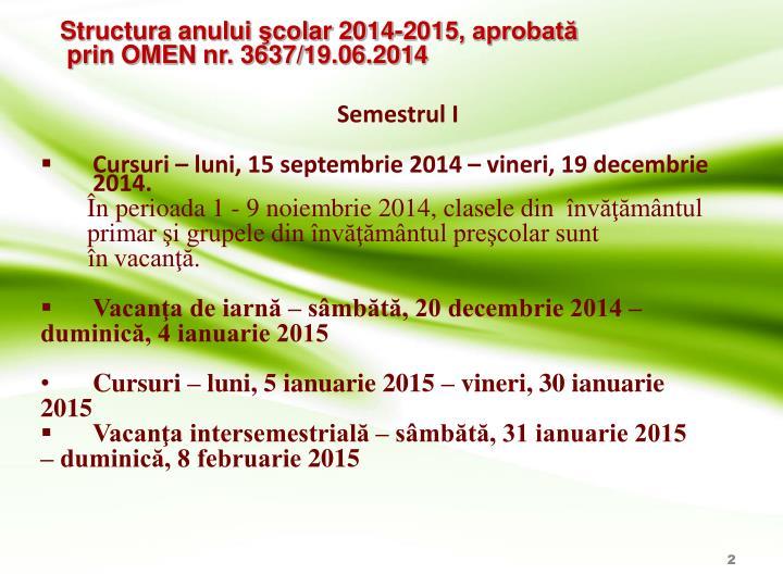 Structura anului