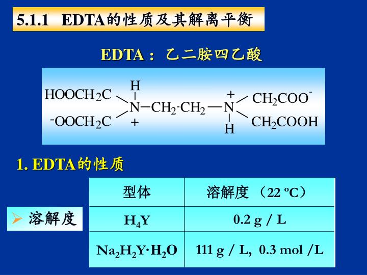 5.1.1   EDTA