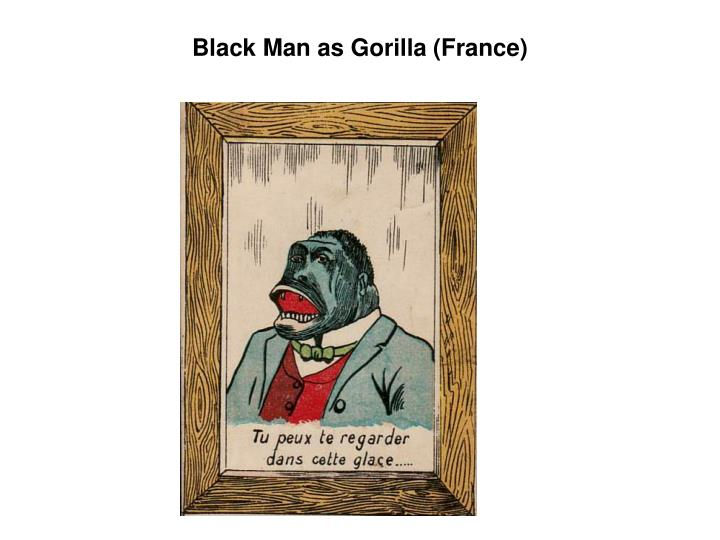 Black Man as Gorilla (France)