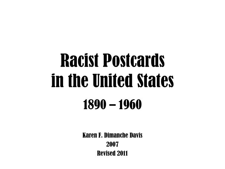 Racist postcards in the united states