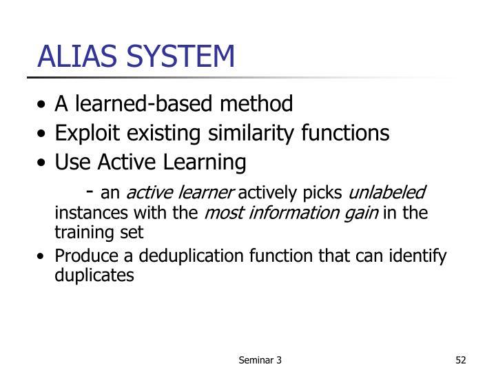 ALIAS SYSTEM