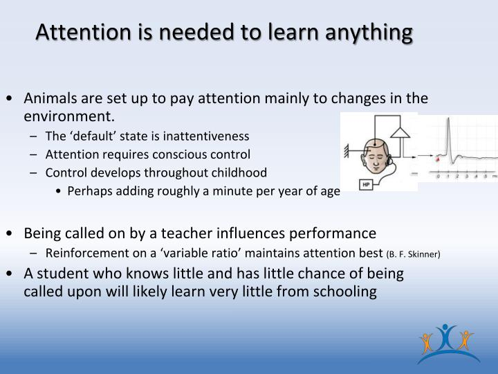 Attention is needed to learn anything