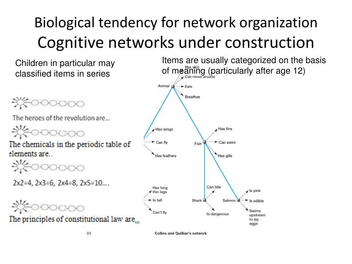 Biological tendency for network organization