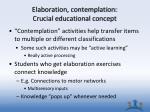 elaboration contemplation crucial educational concept