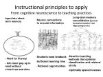 instructional principles to apply from cognitive neuroscience to teaching practices