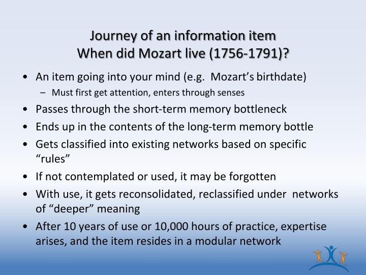 Journey of an information item