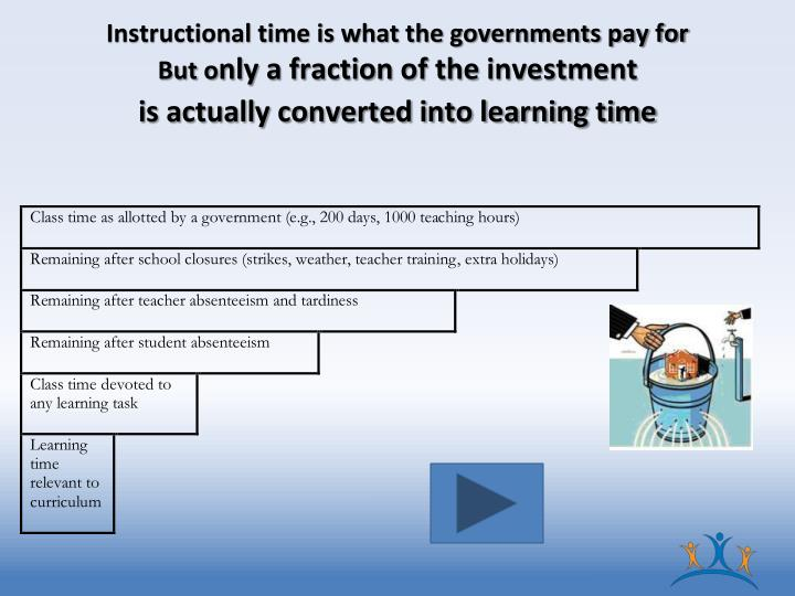 Instructional time is what the governments pay for