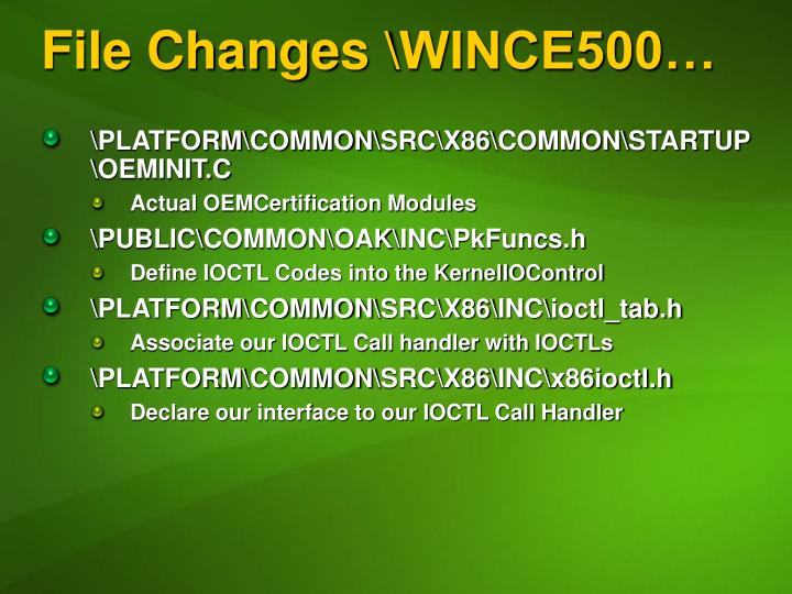 File Changes \WINCE500…