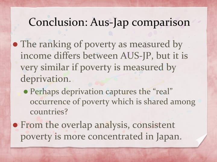 Conclusion: Aus-Jap comparison
