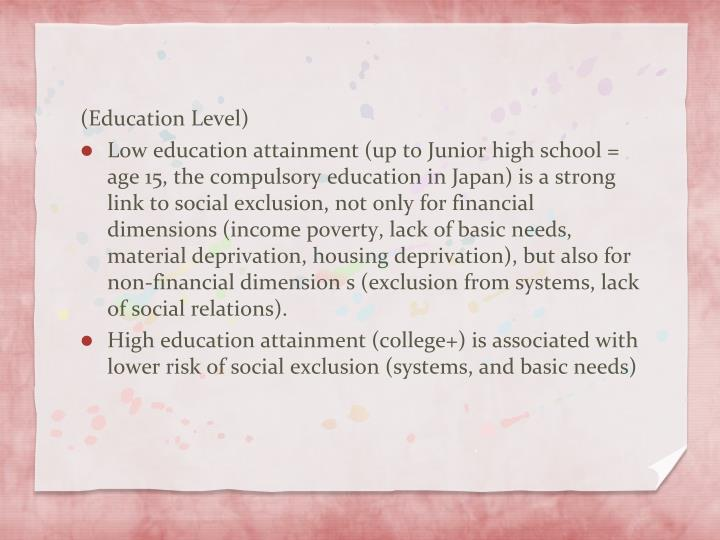 (Education Level)