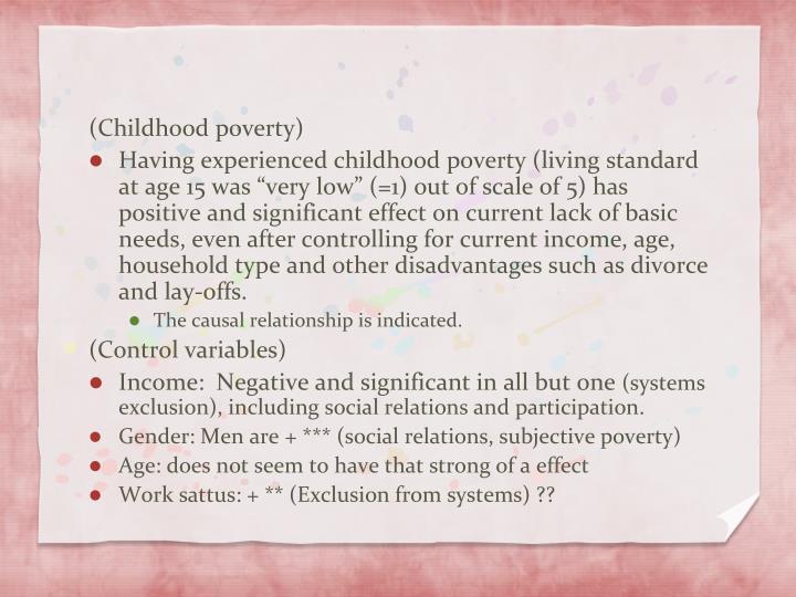 (Childhood poverty)