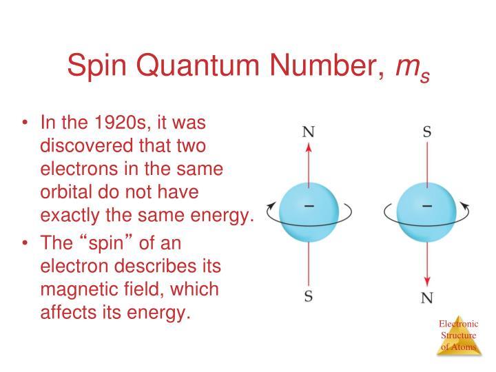 Spin Quantum Number,