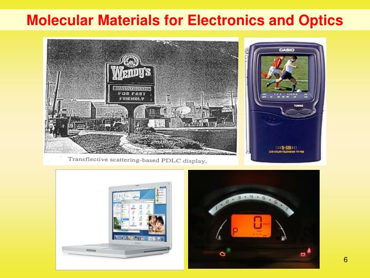 Molecular Materials for Electronics and Optics