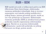 b2 b edi