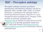 b2c provajderi sadr aja