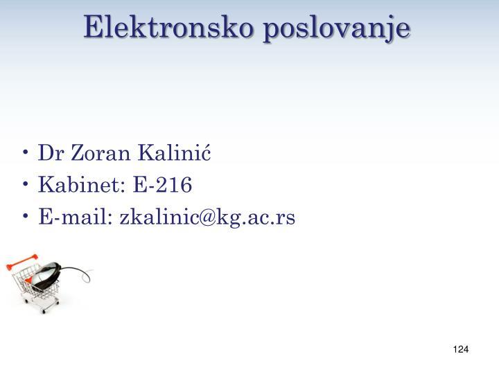 Elektronsko