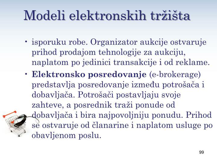 Modeli elektronskih tržišta