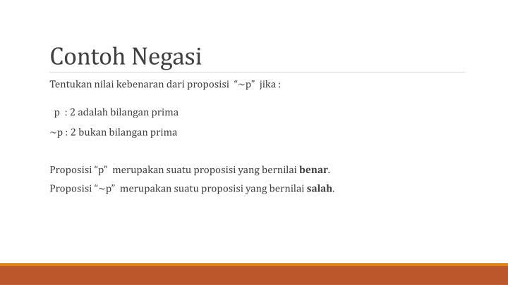 Contoh Negasi