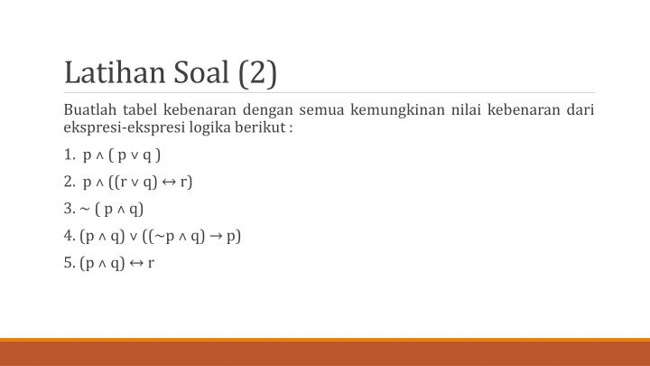 Latihan Soal (2)