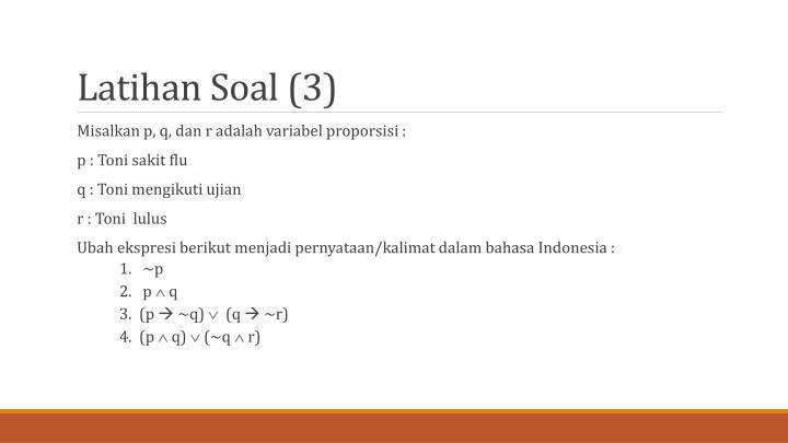 Latihan Soal (3)