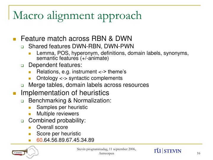 Macro alignment approach