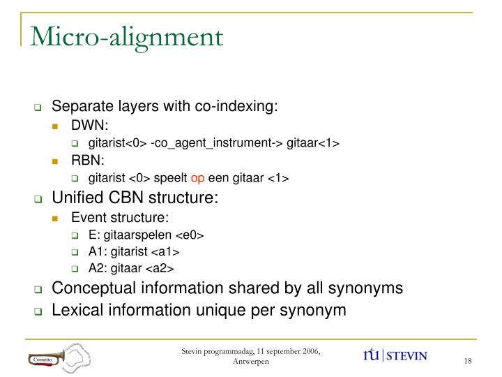 Micro-alignment