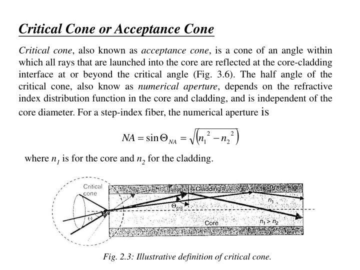 Critical Cone or Acceptance Cone
