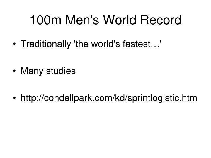 100m Men's World Record