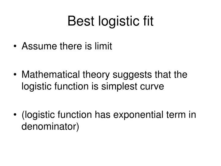 Best logistic fit