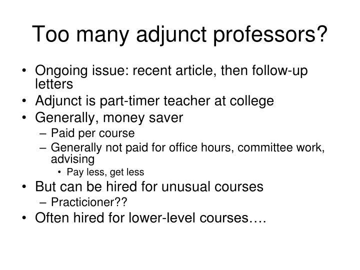 Too many adjunct professors?