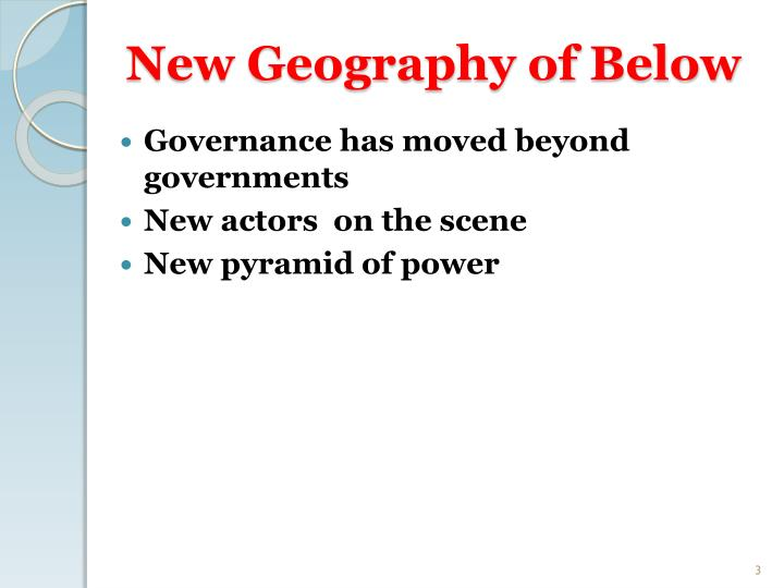 New geography of below