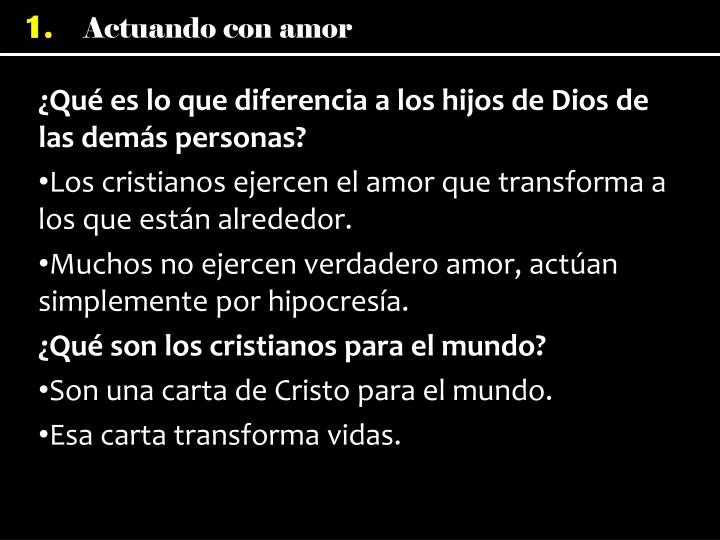 ¿Qué es lo que diferencia a los hijos de Dios de las demás personas?