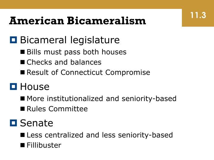 American Bicameralism