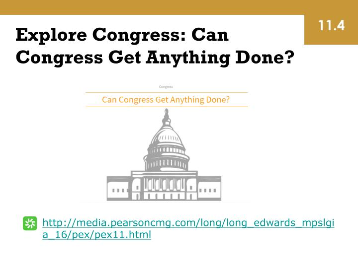 Explore Congress: Can Congress Get Anything Done?