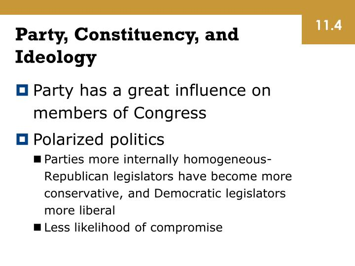 Party, Constituency, and Ideology