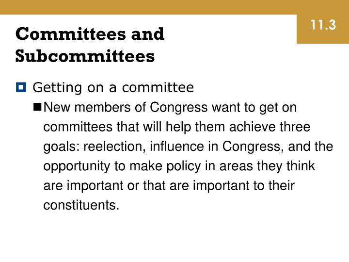 Getting on a committee