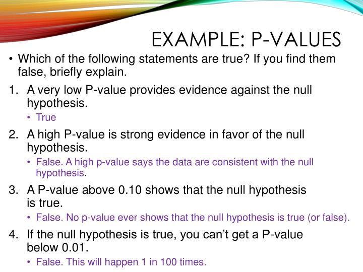 Example: P-values