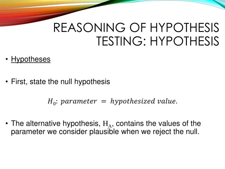 Reasoning of hypothesis