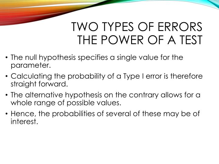 Two types of errors