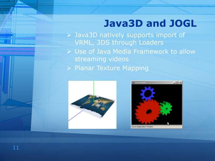Java3D and JOGL
