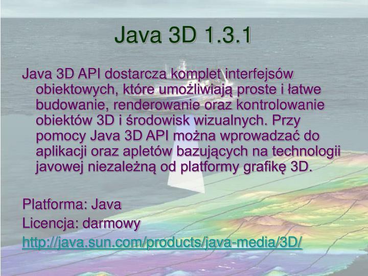 Java 3D 1.3.1