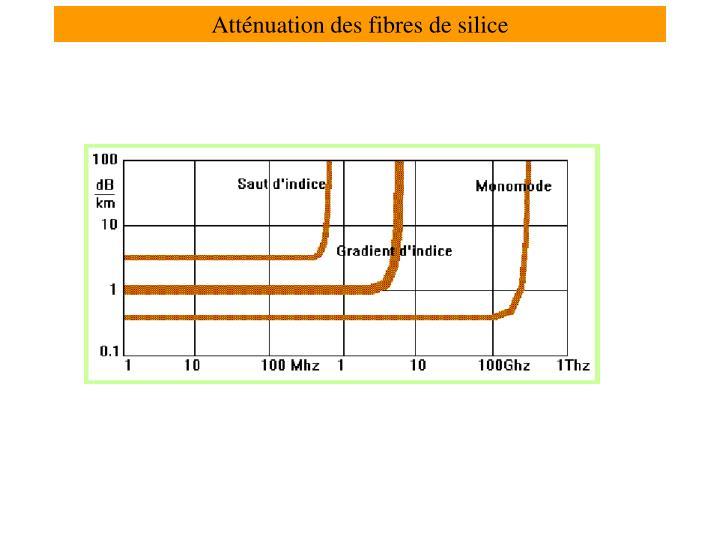 Atténuation des fibres de silice