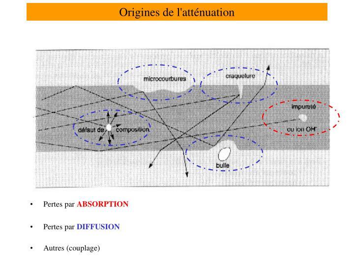 Origines de l'atténuation