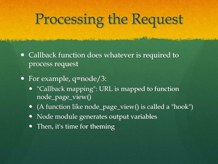 Processing the Request