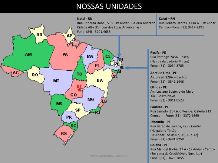 NOSSAS UNIDADES