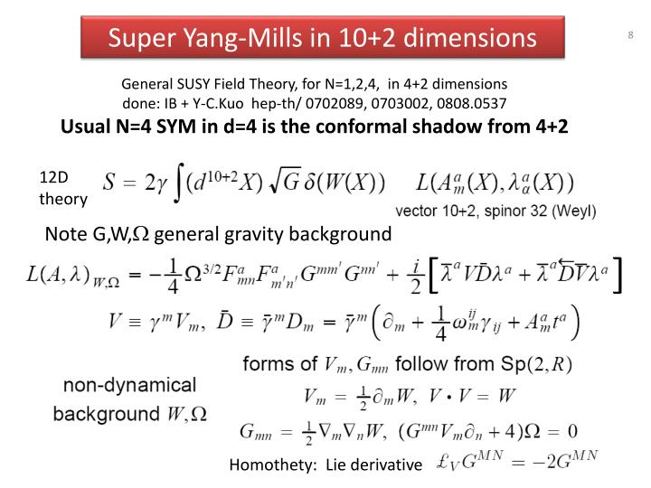 Super Yang-Mills in 10+2 dimensions