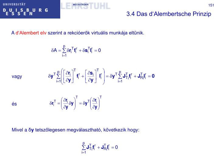 3.4 Das d'Alembertsche Prinzip
