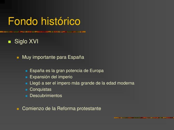 Fondo histórico