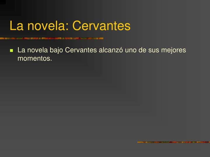 La novela: Cervantes