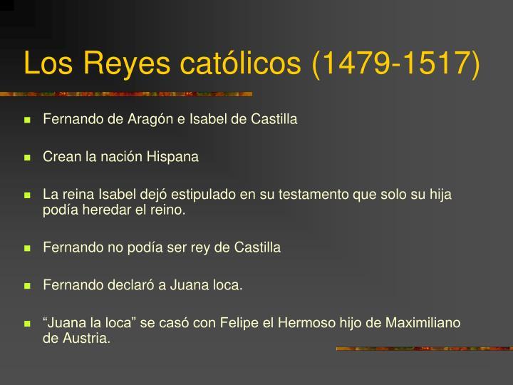 Los Reyes católicos (1479-1517)
